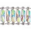 Resin Trim Rectangle 2Yd Spool 22mm Silver/crystal Aurora Borealis